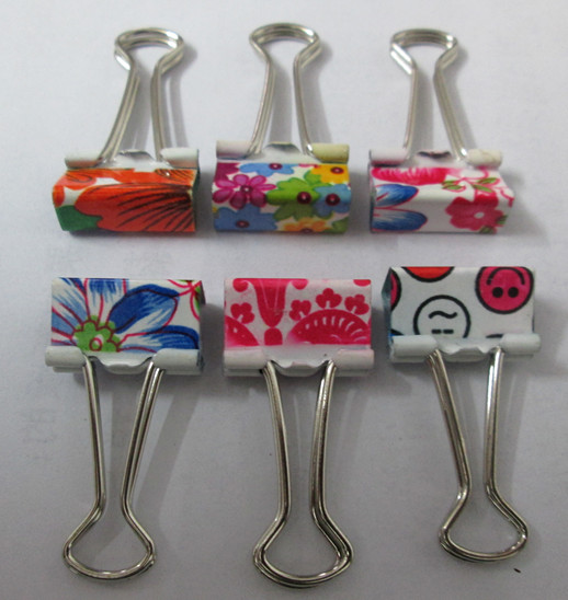 Colorful metal clips, foldback clips, light color binder clips