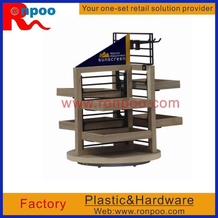 Counter Top Displays,Custom Wooden Racks,Beverage, Wine, & Spirits Display,Wood Floor Platform