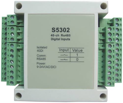 S5302:40-ch isolated digital input,modbus rtu,rs485
