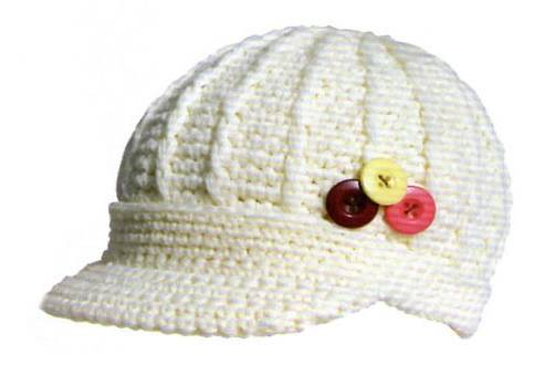 white knitted hat