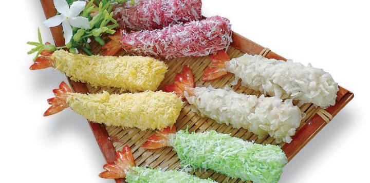 Four Color Breaded Shrimp