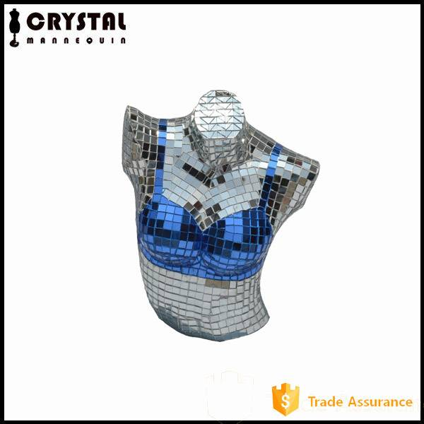 glass mosaic upper body female mannequin