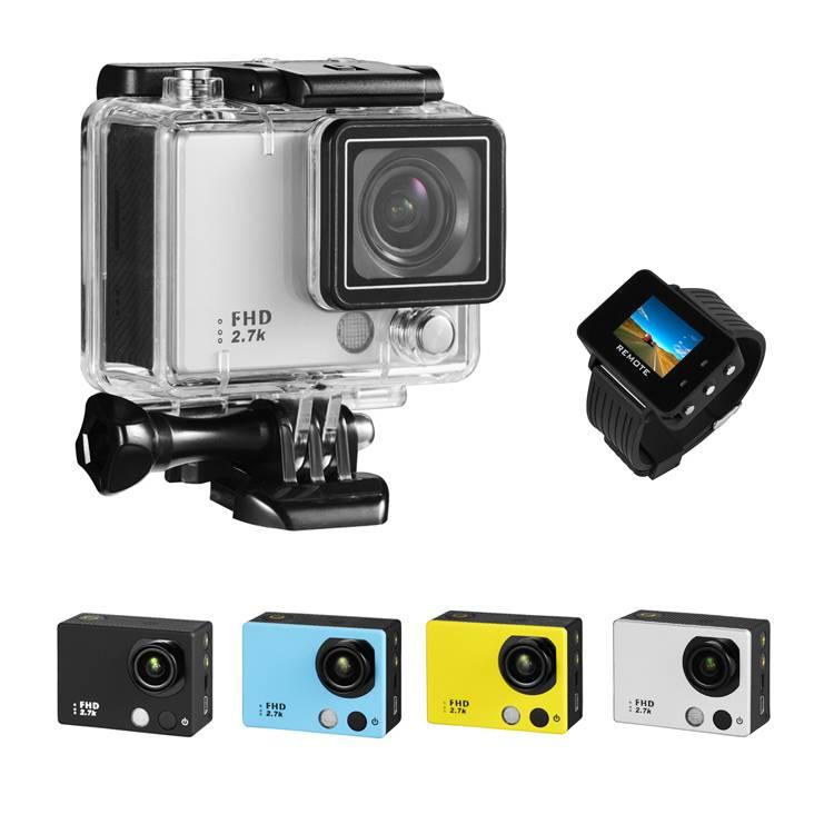 Ambarella action camera 2.7K 30fps live video wrist remote
