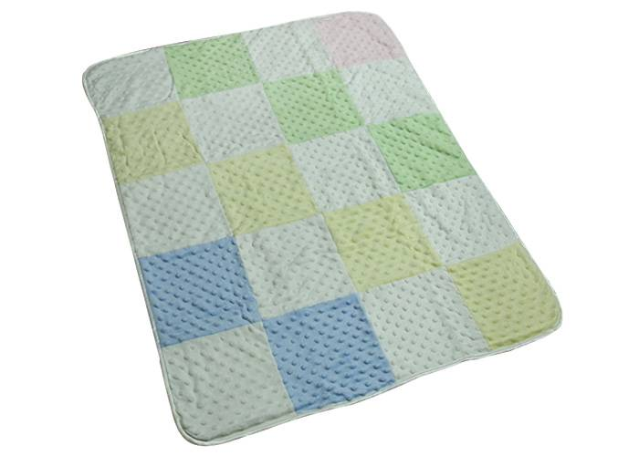 China manufacturer double sided super soft minky dot fleece and sherpa fleece baby blanket