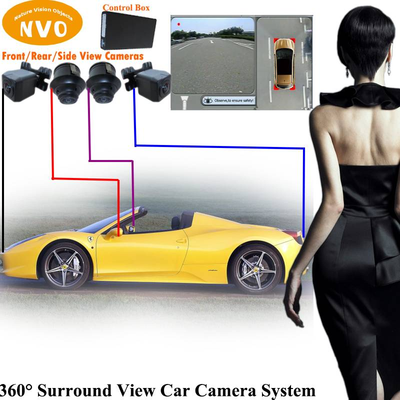 360 Degree Surround View 4 Channel DVR Best Car Camera Parking Assist System
