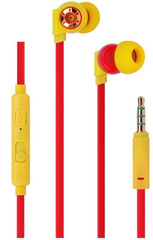 Dynamic stereo in- ear earphone/earpiece,with microphone,flat wire