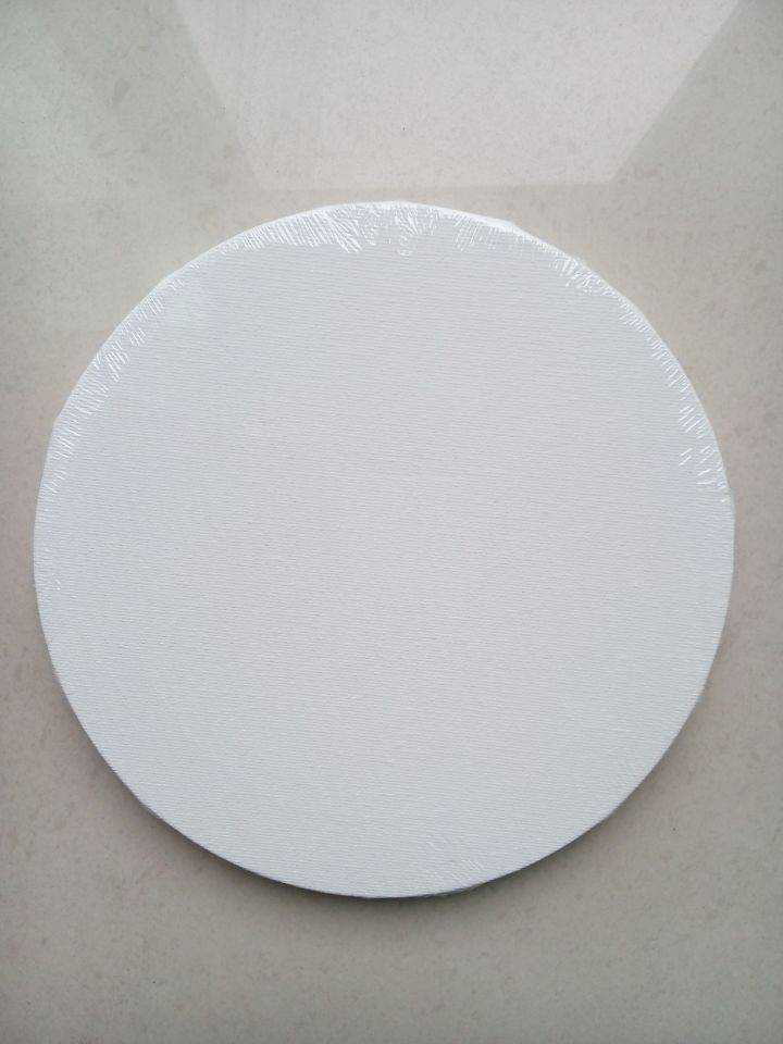 stretched canvas round canvas