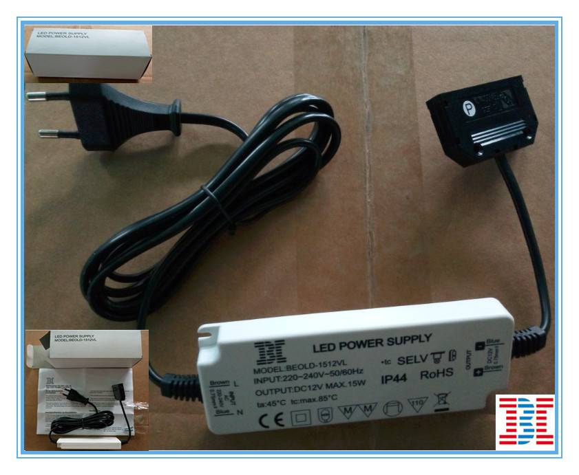 15W12V IP44 CV Version Waterproof LED Power Supply / LED driver