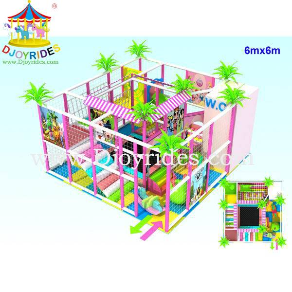 Exciting indoor playground equipment naughty castle