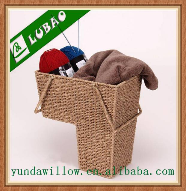 Woven Seagrass Storage Basket For Handicrafts