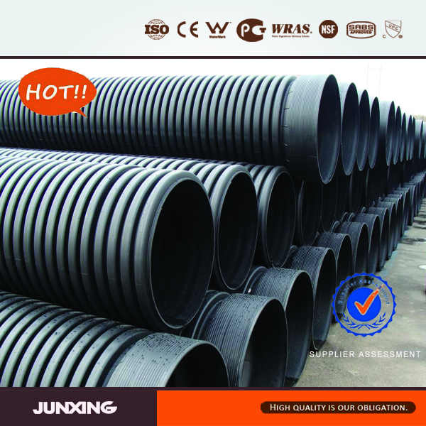 HDPE 100mm corrugated pipe large diameter plastic pipe