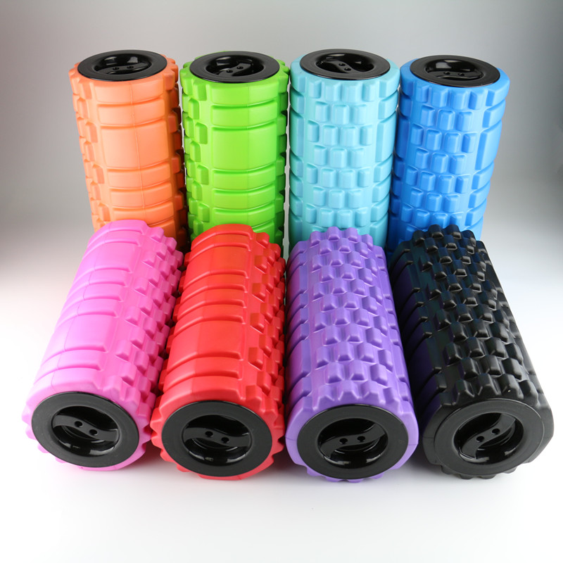 Deep Tissue Grid Body Rolling Foam Rollers With Cap