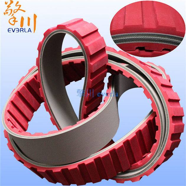 Add Red Chip Baseband Surface Rubber Belt at a High Speed