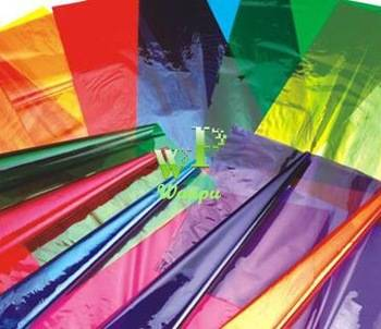 no toxin clear color cellophane paper with excellent of gloss, tensile strength and tensibility.