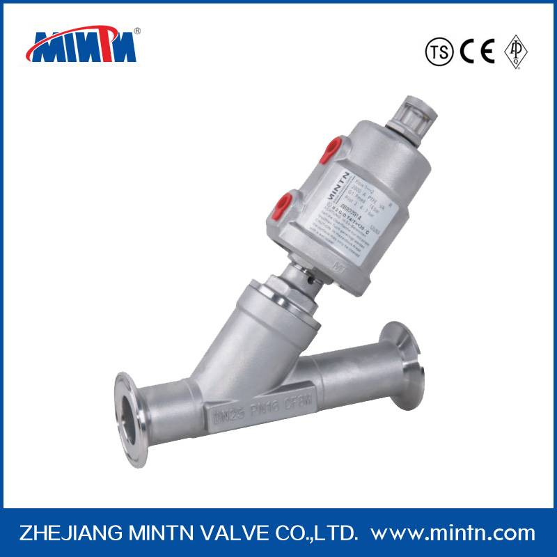 MINTN Pneumatic Angle Seat Valve clamp connection
