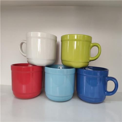 glazed ceramic soup mug