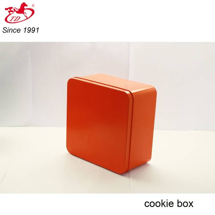 Square wedding favors candy/chocolate/cookie tin box, red soap tin cans