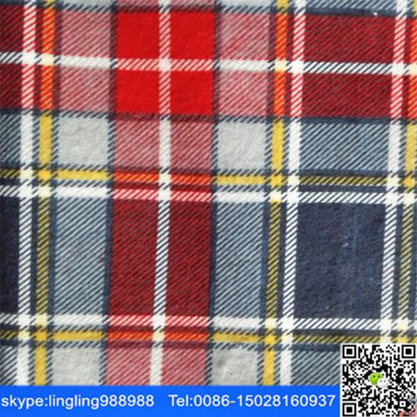 stock good quality c y/d flannel fabric