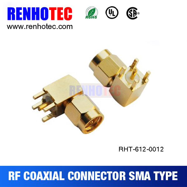 straight and right angle sma connector male