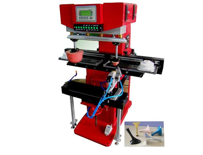 Two Color Shoe Heel Pad Printing Machine