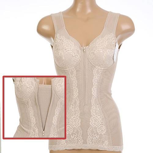The VOEM Women's Lace Slip Bodysuit Slimming Shapewear with Front Zipper