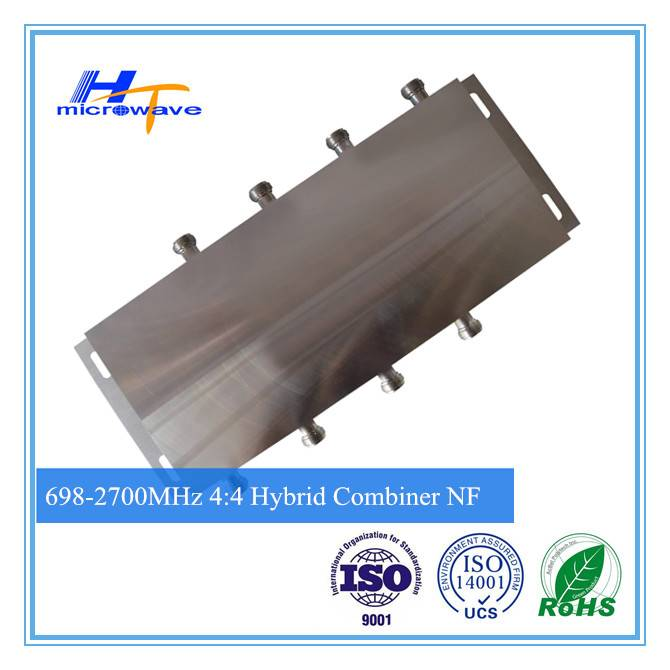 700-2700MHz RF passive device 4 in 4 out 4:4 Hybrid Combiner N - Female connector