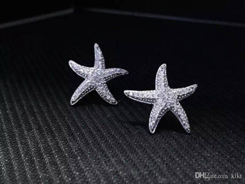 NEFFLY 925SILVER NEW ARRIVAL APM Starfish ear stud FREE SHIPPING