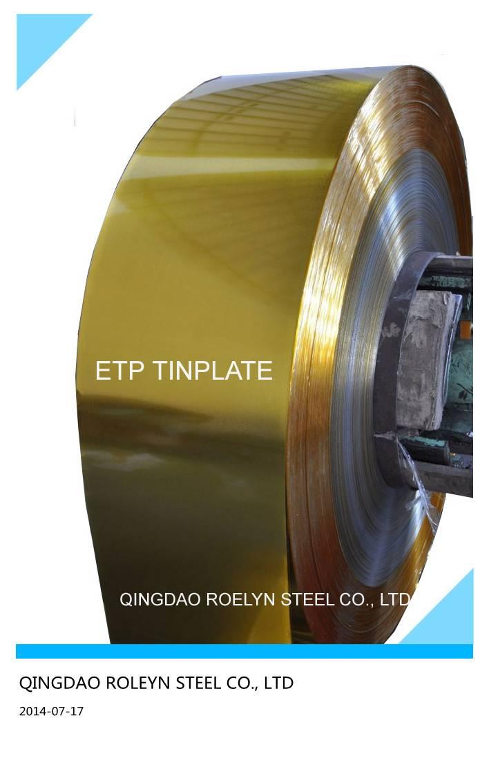 JIS standard ETP tinplate steel strips coils