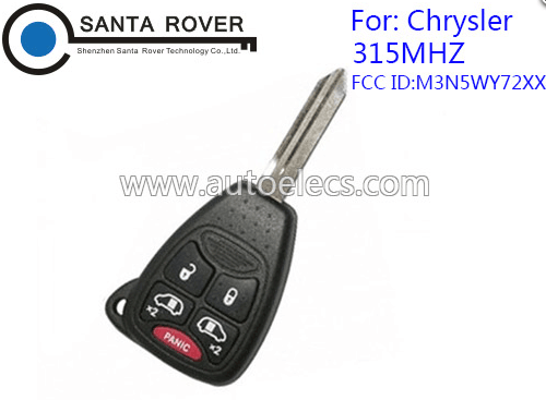 For Chrysler Dodge Jeep Remote Key fob M3N5WY72XX with 4+1 button 315MHz