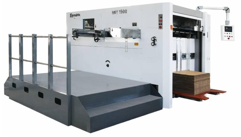 Semi automatic die cutting and creasing machine  , model BMY1500
