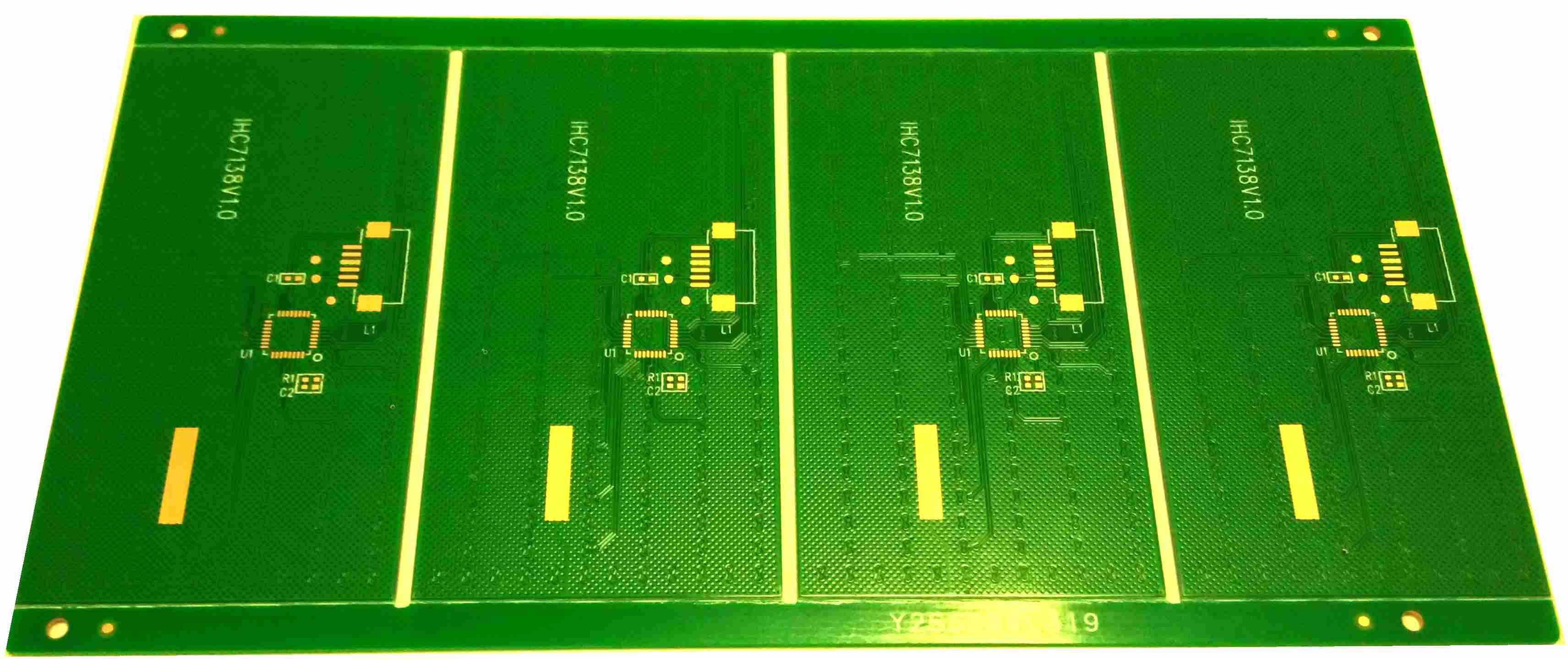 2 layers PCB for Touch Screen, 0.6mm board thickness