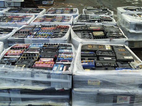 used car and truck battery scrap for export