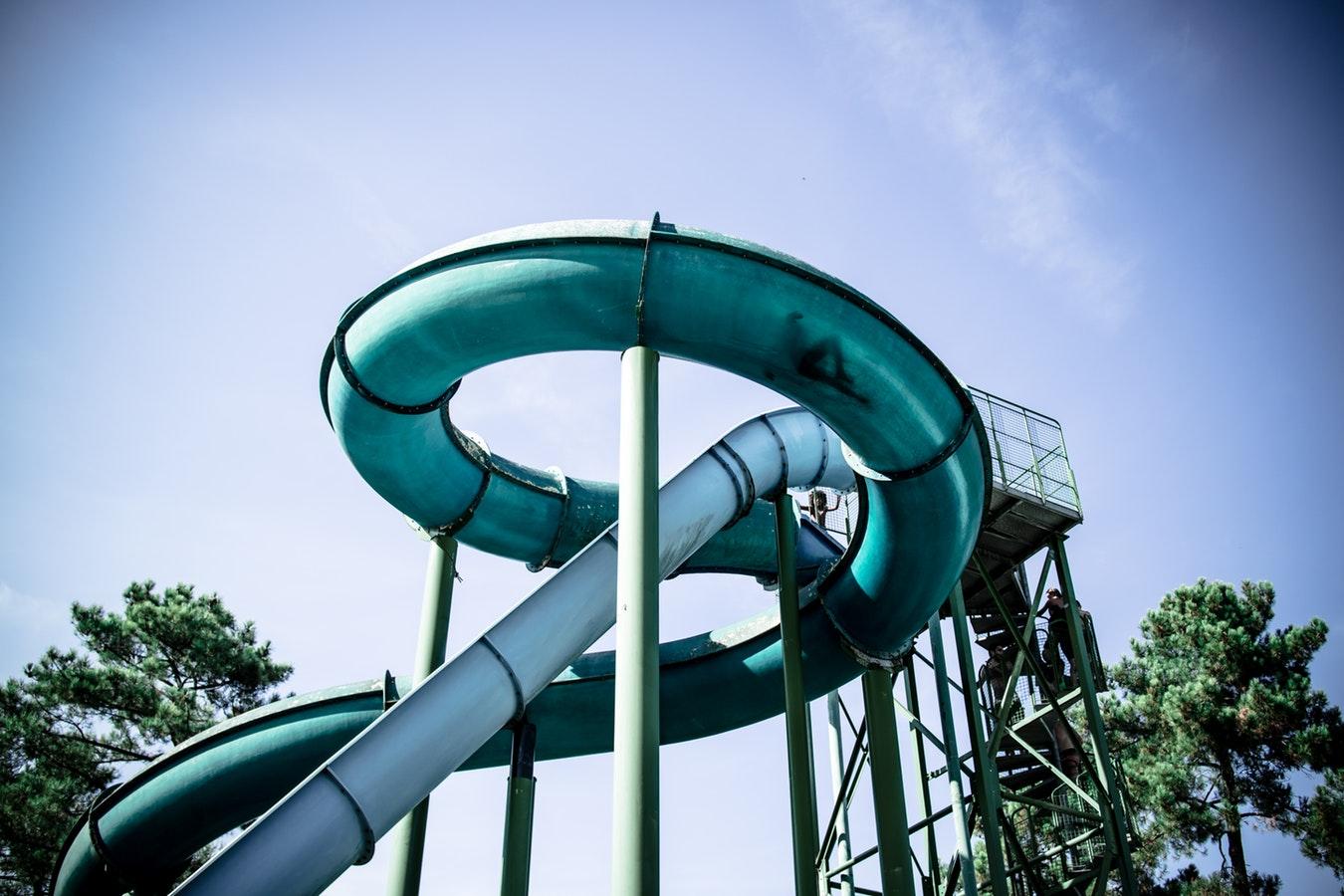 super circle slide water ride slide
