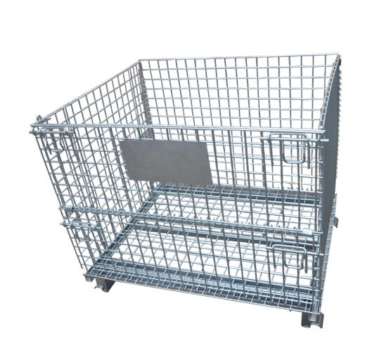Steel Foldable Wire Mesh Containercustom Wire Container wire containers Exporter