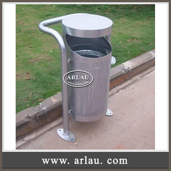Arlau Useable And Waterproof trash receptacle,stainless steel trash can,reycle bin