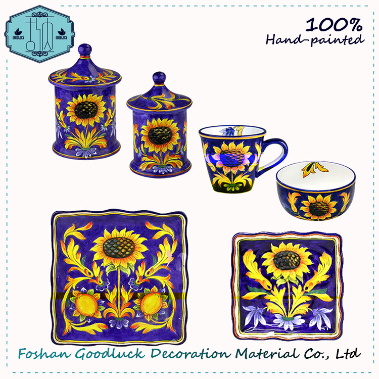 Sunflower Home Decor Moroccan Designer Wholesale Dinner Set