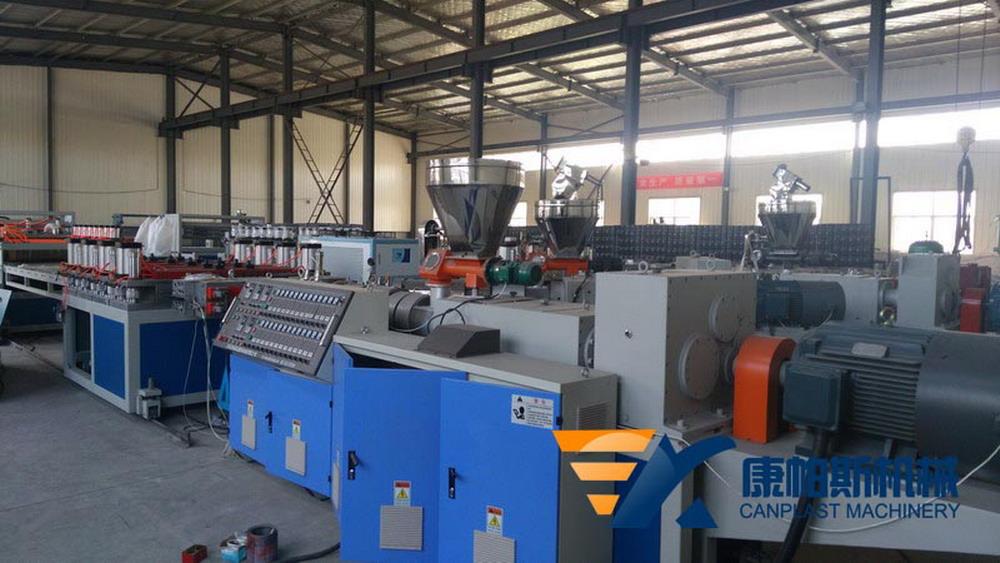 PVC crust foamed board production line