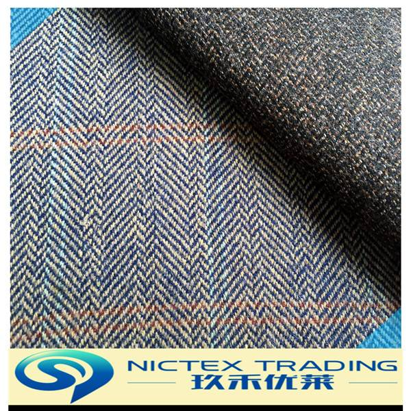 woolen tweed polyester wool fabric for coat