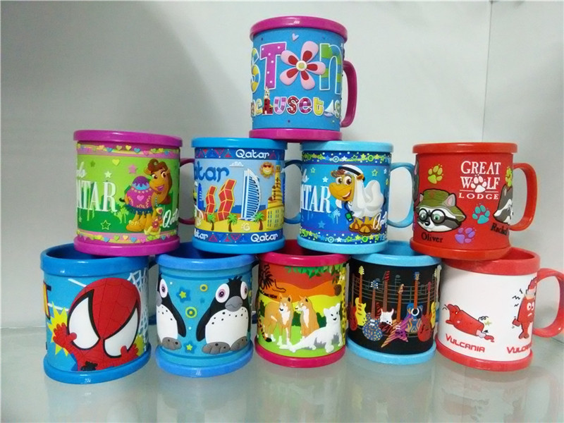 Colorful soft PVC mug for office