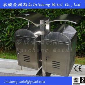 Customized stainless steel garbage bin