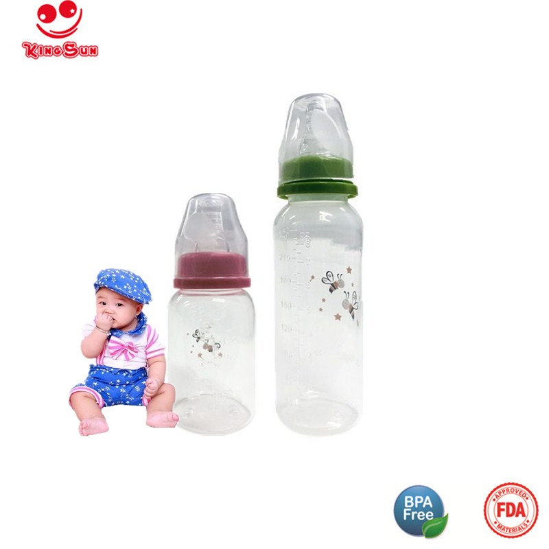 Straight Shape Plastic Newborn Baby Bottle in Standard Neck
