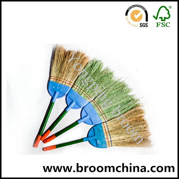 new design corn broom with wooden handle for clean room