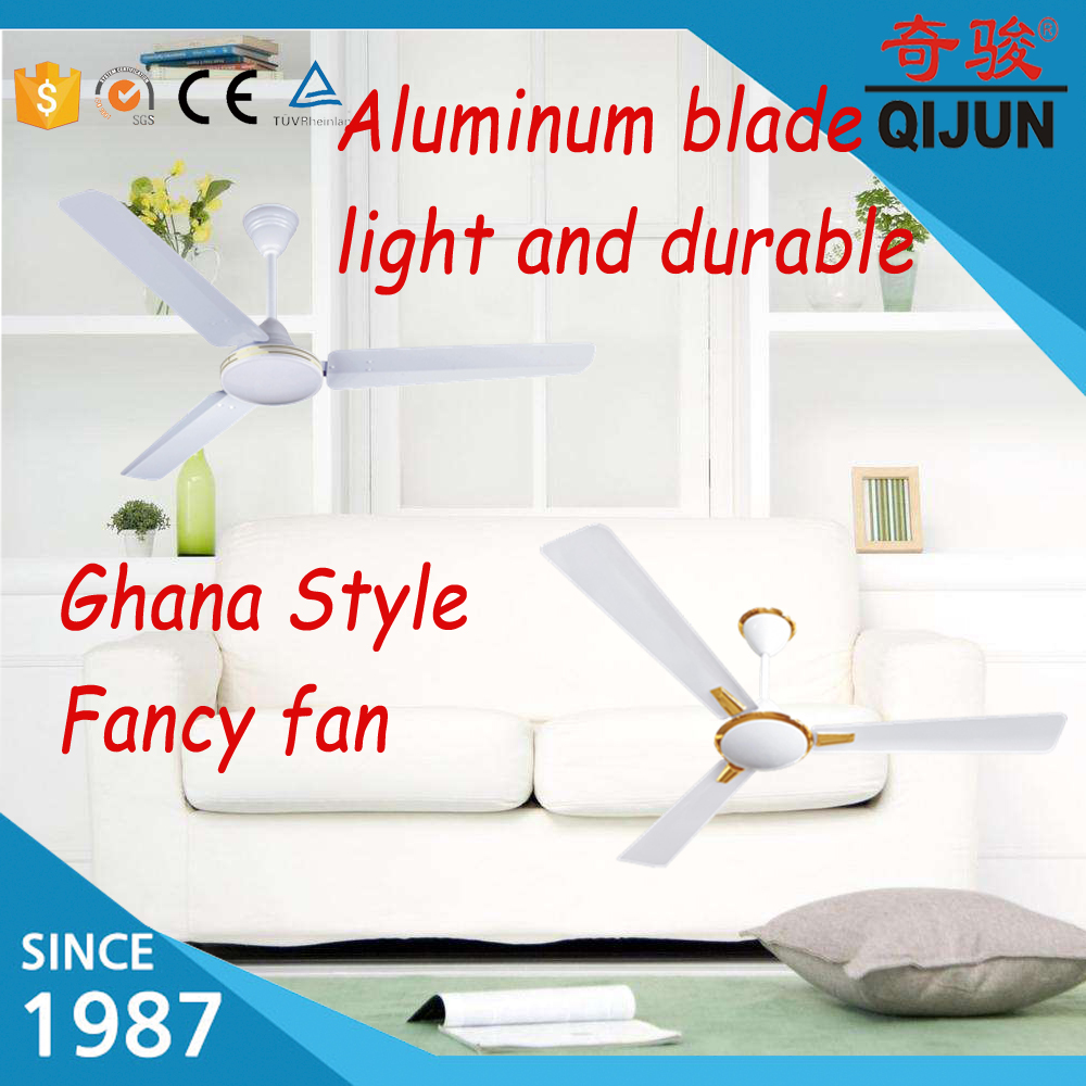 Guangdong Foshan High Quality Ceiling Fans With Dc: Aura Type 56inch Ceiling Fan With Golden Ring