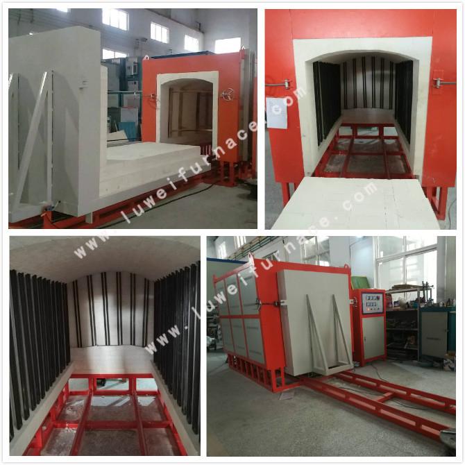 Ceramic Shuttle kiln in industrial for heating pottery/ceramic tile