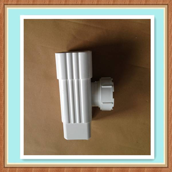 Colored PVC Rain Gutter for Building's Roofing Rainwater Drainage System Tee coupler