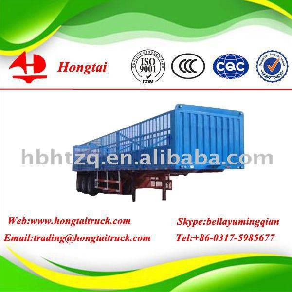 3 axles curtain semi trailer