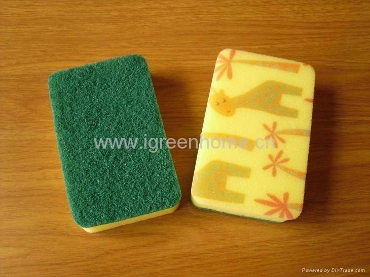printed kitchen sponge