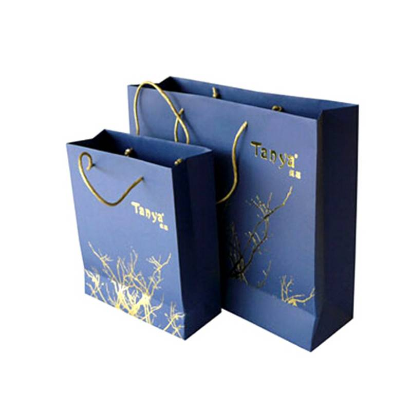 Eco-friendly hotgoldstamping paper bag