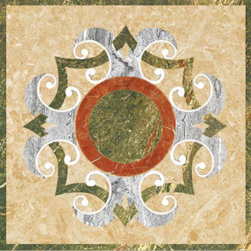 Medallion Pattern Polished Glazed Tile