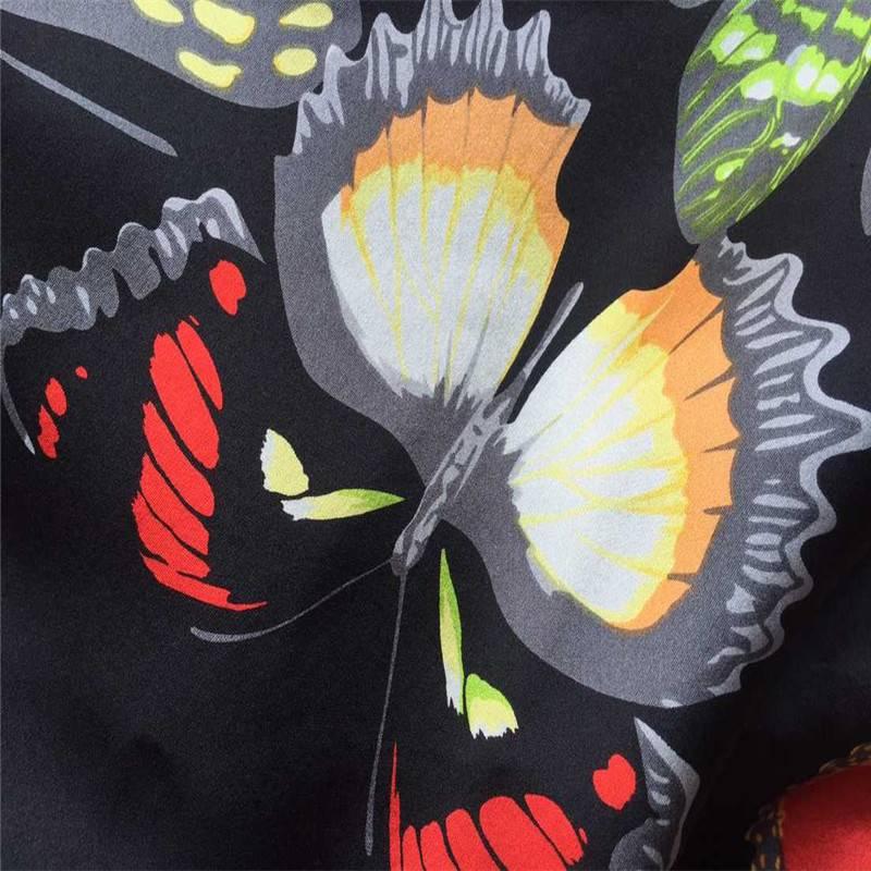 factory price, customized new designs hanbok cloths printed silk fabric, real silk crepe satin plain